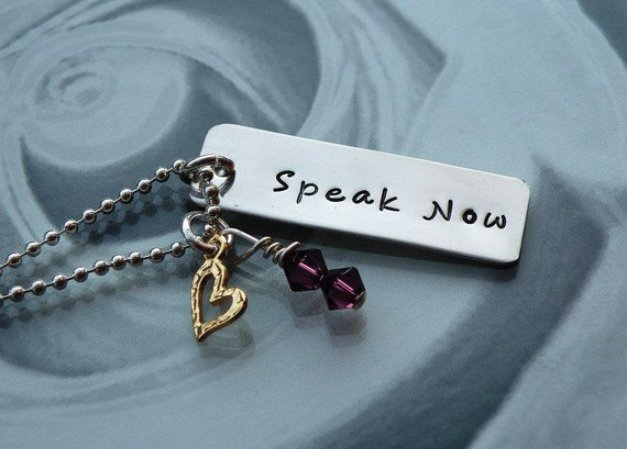 Speak Now Gold Heart Necklace(Taylor Swift Inspired)