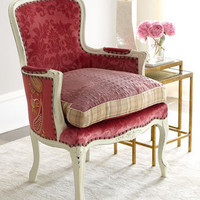 Old Hickory Tannery - &quot;Darra&quot; Rose Chair - Horchow