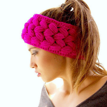 Wide Ear Warmer Headband to Crochet