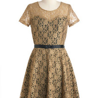 Truth Be Gold Dress | Mod Retro Vintage Dresses | ModCloth.com