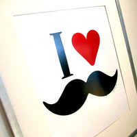 Mr Moustache Print 85x11 by JosStudio on Etsy