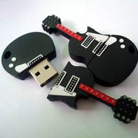 Unique Guitar Shape Flash Drive