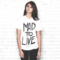 MAD TO LIVE UNISEX COTTON TEE