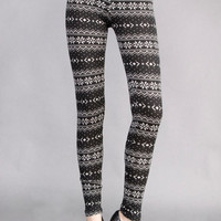 Aztec Print Woolen Leggings for Women. Perfect Fall /Winter /Holiday Leggings 2012