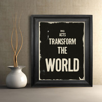 $15.00 Small Acts Transform the World | Fresh Words Market