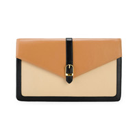 Simple Envelope Shape Leather Clutc.. on Luulla