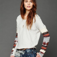 Free People We The Free Patch Up Sleeve Pullover