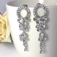 Wedding Earrings -AAA quality cubic zirconia earings -Clear cubic zirconia stud earrings