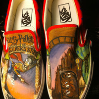 Harry Potter and the Sorcerer&#x27;s Stone Painted Shoes