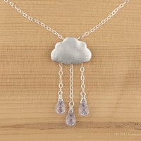 Sterling silver, Lilac rain cloud necklace &quot;Lilac Rain&quot;