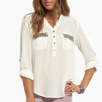 Tiffany Jeweled Blouse $46
