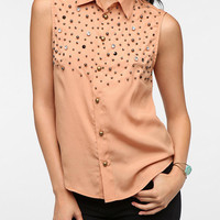 Pins and Needles Star Embellished Blouse