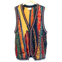 Shop Now! Ugly Sweaters: Coogi Textured Cosby Style Tacky Ugly Sweater Vest Size Medium/Large/XL $60 - The Ugly Sweater Shop