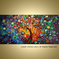 MUSIC for my SOUL 48X24 Original Modern Abstract by LUIZAVIZOLI
