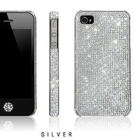 Lifetime Warranty Authentic Clear Swarovski Element Crystals 10ss case for Apple iPhone 4S 4 FREE Swarovski Home Button Sticker: Gift Box