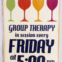 Fall Harvest Decor -Group Therapy Typography Wood Sign