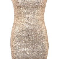 Sequin Bandeau Dress - by Pilot