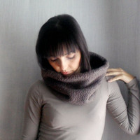 Wool cowl neck warmer - cowl neck wool scarf infinity cowl scarf