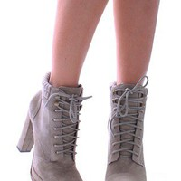 Wallie Leather Lace Up Boot by Dolce Vita | Shop Booties at MessesOfDresses.com