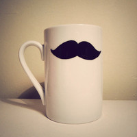 Moustache mug by Mr Teacup by MrTeacup on Etsy