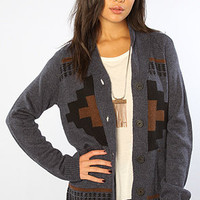 The Los Lobos Rolled Collar Cardigan in Eclipse