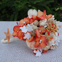 Sea Shell Bridal Bouquet - Brooch Bouquet - READY TO SHIP
