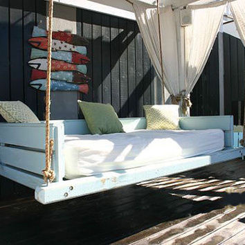 Vintage Blue Swing Bed
