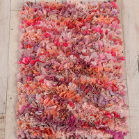 Mixed Media Shag Rug