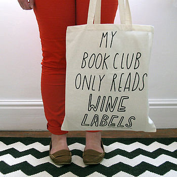 book club tote bag by the joy of ex foundation | notonthehighstreet.com