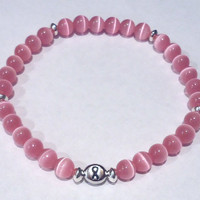 Awareness Jewelry, Pink Stretch Bracelet, Breast Cancer Awareness Bracelet