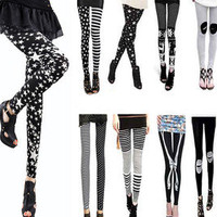 Hot Fashion Slim Sexy Womens' Rock Punk Funky Leggings Warm Tights Pants Black