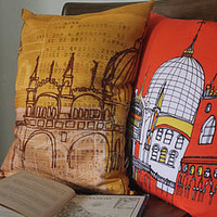 venezia yellow cushion by helena carrington | notonthehighstreet.com