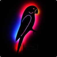 Multicolor Parrot Wall Art - Lighted Home Decor