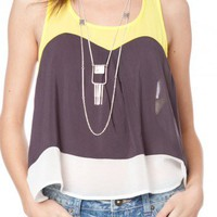 Sweet Colorblock Tank - ShopSosie.com