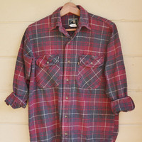 Vintage Plaid Flannel Shirt by Berne Apparel Flannel Shirt