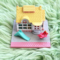 polly pocket toy shop, bluebird original, 90s