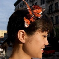 $32.00 flight of monarchs butterfly headband  also by charmschooldesign