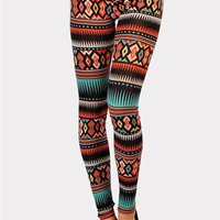 Mexico Tribal Print Legging - Multi at Necessary Clothing