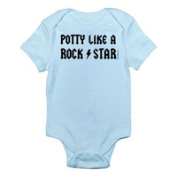 Potty Like A Rockstar Custom 100 Cotton by PamelaFugateDesigns
