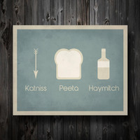 Hunger Games Inspired / Katniss Peeta Haymitch / Simplest Definition Typography / 11&quot; x 14&quot; Poster Print