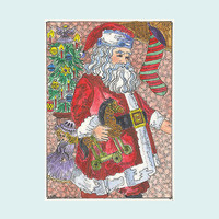 ACEO signed print Santa Claus Christmas Holiday by Theodora