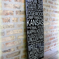 Subway Story SignCUSTOM Wooden Distressed by cellardesigns on Etsy