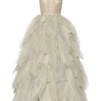 Oscar de la Renta|Embroidered tulle gown |NET-A-PORTER.COM