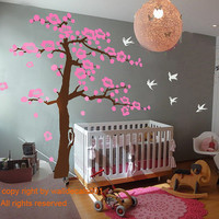 Wall Decals - cherry blossom tree decals -100&quot;