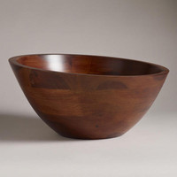 Angled Wood Salad Serving Bowl | World Market