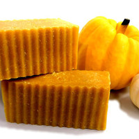 Pumpkin Spice Cold Process Soap Bar with Real Pumpkin by SSSoap