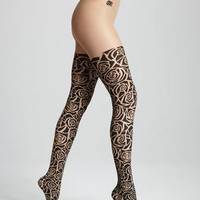 Rockin Rose Tights
