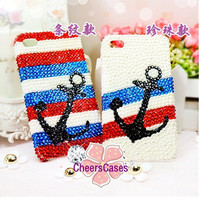 Handmade hard case for iPhone 4 & 4S: Bling Anchor(custom are welcome)