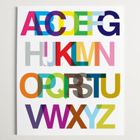 "An Alphabetic Ode to Helvetica Wall Art - 13"" x 16"""