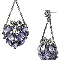 BetseyJohnson.com - CRYSTAL HEART CHANDELIER PURPLE